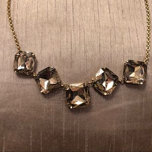 Gold jeweled gold necklace
